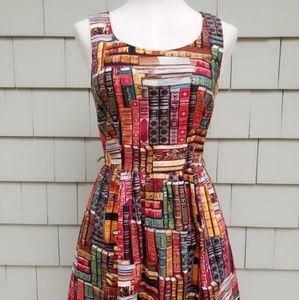 ModCloth Book Print Retro Dress